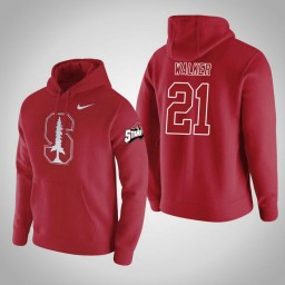 Stanford Cardinal #21 Cameron Walker Men's Red College Basketball Hoodie