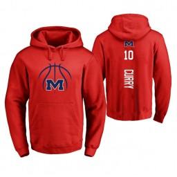 Ole Miss Rebels #10 Carlos Curry Men's Red College Basketball Hoodie