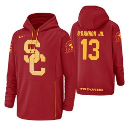 USC Trojans #13 Charles O'Bannon Jr. Men's Red College Basketball Hoodie