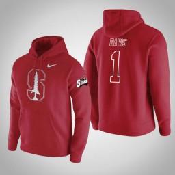 Stanford Cardinal #1 Daejon Davis Men's Red College Basketball Hoodie