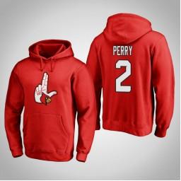 Louisville Cardinals #2 Darius Perry Men's Red Pullover Hoodie
