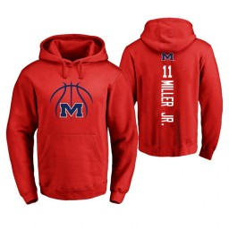 Ole Miss Rebels #11 Franco Miller Jr. Men's Red College Basketball Hoodie