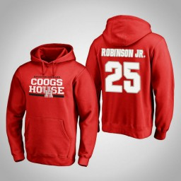Houston Cougars #25 Galen Robinson Jr. Men's Red Team Hometown Collection Pullover Hoodie