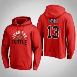 Maryland Terrapins #13 Ivan Bender Men's Red Team Hometown Collection Pullover Hoodie