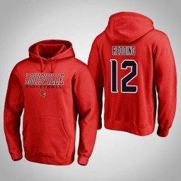 Louisville Cardinals #12 Jacob Redding Men's Red College Basketball Hoodie