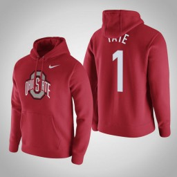 Ohio State Buckeyes #1 Jae'Sean Tate Men's Red Pullover Hoodie