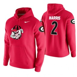 Georgia Bulldogs #2 Jordan Harris Men's Red College Basketball Hoodie