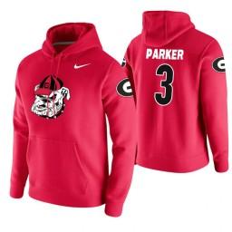 Georgia Bulldogs #3 Juwan Parker Men's Red College Basketball Hoodie