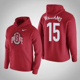 Ohio State Buckeyes #15 Kam Williams Men's Red Pullover Hoodie