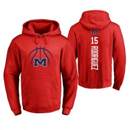 Ole Miss Rebels #15 Luis Rodriguez Men's Red College Basketball Hoodie