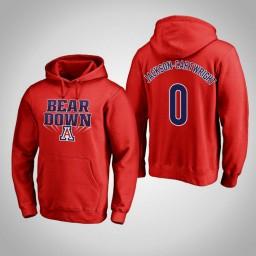 Arizona Wildcats #0 Parker Jackson-Cartwright Men's Red Pullover Hoodie