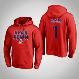 Arizona Wildcats #1 Rawle Alkins Men's Red Pullover Hoodie