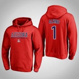 Arizona Wildcats #1 Rawle Alkins Men's Red College Basketball Hoodie