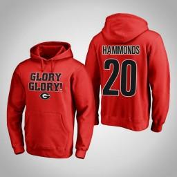 Georgia Bulldogs #20 Rayshaun Hammonds Men's Red Pullover Hoodie