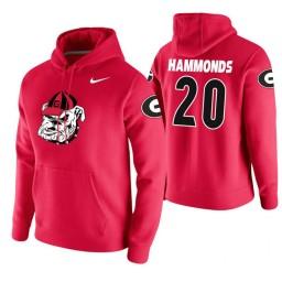 Georgia Bulldogs #20 Rayshaun Hammonds Men's Red College Basketball Hoodie
