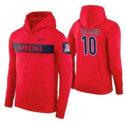 Arizona Wildcats #10 Ryan Luther Men's Red Pullover Hoodie