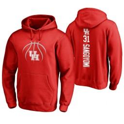Houston Cougars #31 Valentine Sangoyomi Men's Red College Basketball Hoodie