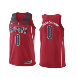 Youth Arizona Wildcats #0 Parker Jackson-Cartwright Authentic College Basketball Jersey Red