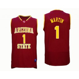 Women's Arizona State Sun Devils #1 Remy Martin Authentic College Basketball Jersey Red