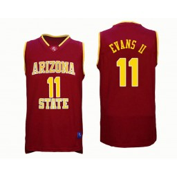 Women's Arizona State Sun Devils #11 Shannon Evans II Authentic College Basketball Jersey Red