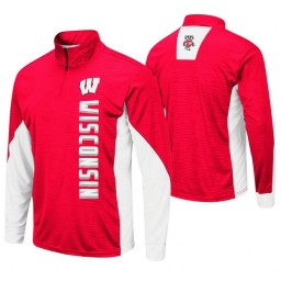 Wisconsin Badgers Red Bart Windshirt Pullover Jacket