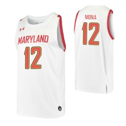 Women's Maryland Terrapins #12 Reese Mona White Authentic College Basketball Jersey