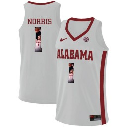 Youth Alabama Crimson Tide #1 Riley Norris Authentic College Basketball Jersey White