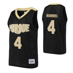 Purdue Boilermakers #4 Robbie Hummel Black Authentic College Basketball Jersey