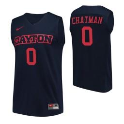 Dayton Flyers #0 Rodney Chatman Navy Authentic College Basketball Jersey