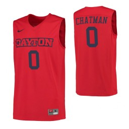 Dayton Flyers #0 Rodney Chatman Red Authentic College Basketball Jersey
