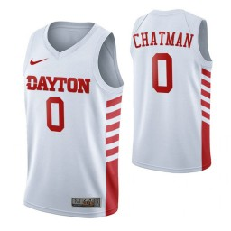 Dayton Flyers #0 Rodney Chatman White Authentic College Basketball Jersey