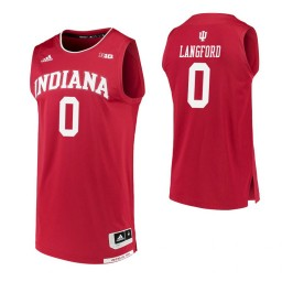 Indiana Hoosiers #0 Romeo Langford Crimson Authentic College Basketball Jersey