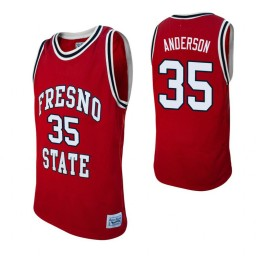 Fresno State Bulldogs #35 Ron Anderson Red Authentic College Basketball Jersey
