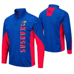 Kansas Jayhawks Royal Bart Windshirt Pullover Jacket