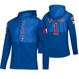 Kansas Jayhawks Dedric Lawson Royal 2019 Sideline Game Mode Jacket
