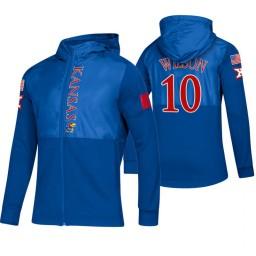 Kansas Jayhawks Jalen Wilson Royal 2019 Sideline Game Mode Jacket