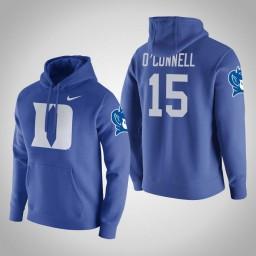 Duke Blue Devils #15 Alex O'Connell Men's Royal College Basketball Hoodie