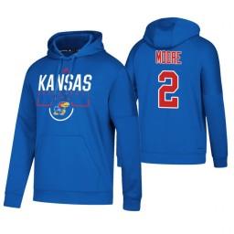 Kansas Jayhawks #2 Charlie Moore Men's Royal College Basketball Hoodie
