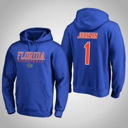 Florida Gators #1 Chase Johnson Men's Royal College Basketball Hoodie