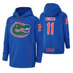 Florida Gators #11 Chris Chiozza Men's Royal College Basketball Hoodie