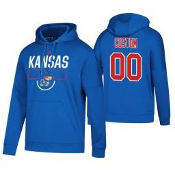 Kansas Jayhawks #00 Custom Men's Royal College Basketball Hoodie