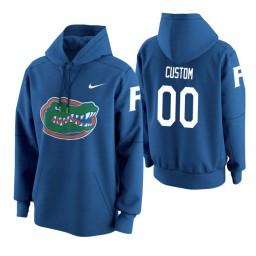 Florida Gators #00 Custom Men's Royal College Basketball Hoodie