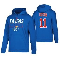 Kansas Jayhawks #11 Devon Dotson Men's Royal College Basketball Hoodie