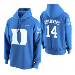 Duke Blue Devils #14 Jordan Goldwire Men's Royal College Basketball Hoodie