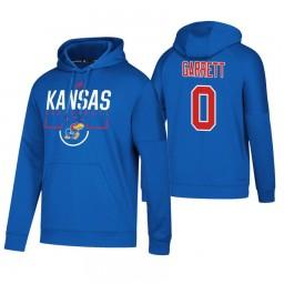 Kansas Jayhawks #0 Marcus Garrett Men's Royal College Basketball Hoodie