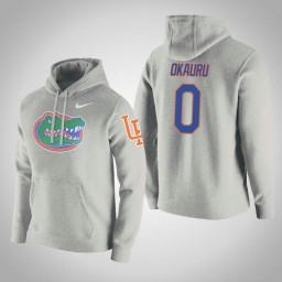 Florida Gators #0 Mike Okauru Men's Royal College Basketball Hoodie