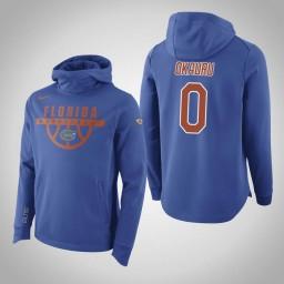Florida Gators #0 Mike Okauru Men's Royal Elite College Basketball Hoodie