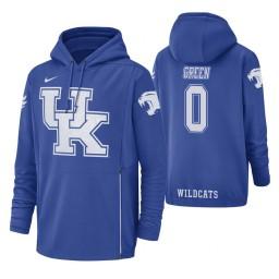 Kentucky Wildcats #0 Quade Green Men's Royal College Basketball Hoodie