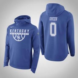 Kentucky Wildcats #0 Quade Green Men's Royal Elite College Basketball Hoodie