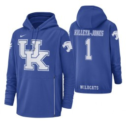 Kentucky Wildcats #1 Sacha Killeya-Jones Men's Royal College Basketball Hoodie